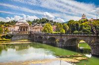 River Po, Turin. Italy