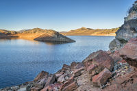 Horsetooth Reservoir  with low water level