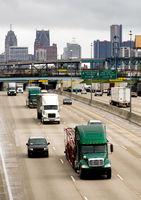 Interstate Highway Traffic Flows Arouund Detroit Michigan Metro Area
