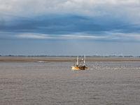 Krabbenkutter in der Wesermündung