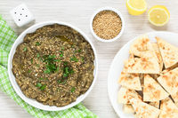 Roasted Eggplant Dip or Spread with Pita Chips