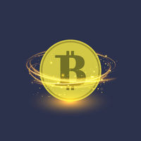 Colden Bitcoin Isolated. Crypto Currency Icon