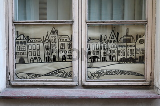 Estland, Tallinn, Fenster in der Altstadt
