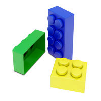 three colored child blocks