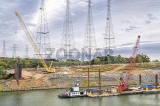 Industrial landscape on Tennesse River