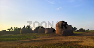 Panoramic view to Bkonni village of Hausa people, Tahoua, Niger