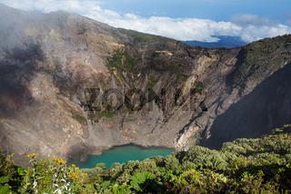 Hike to volcano
