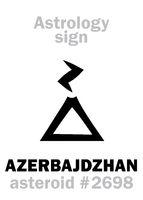 Astrology: asteroid AZERBAJDZHAN