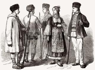 Bulgarian costumes, 19th century