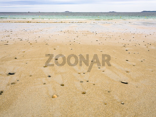 surface of sand beach in Perros-Guirec town