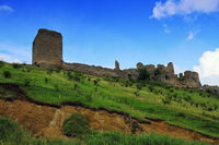 ruins of Coltesti medieval fortress in Alba county