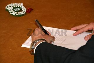 Unterschrift Namenführung