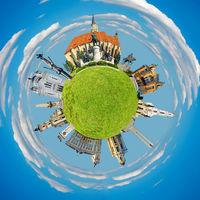 Cluj Napoca tiny planet