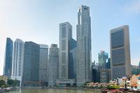 Singapore Downtown. Morning skyline