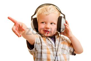 Musik hören und zeigen