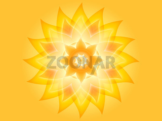 Mandala 001-2 Gelb
