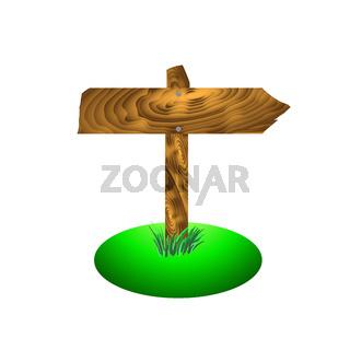 Wood Arrow Board