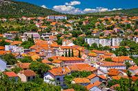 Town of Drnis and Dalmatian inland panorama