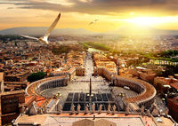Panoramic view of Vatican