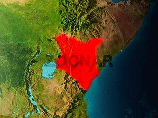 Orbit view of Kenya