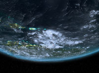 Caribbean at night