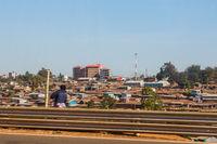 Slums in Nairobi city in Kenya