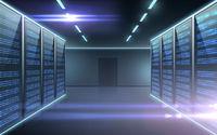 futuristic server room