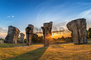 Mor Hin Khao (Thailand Stonehenge) sunrise landscape, Chaiyaphum, Thailand