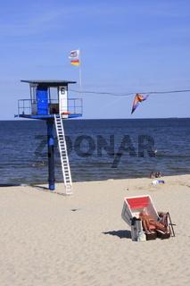 Turm der Wasserwacht Ostseestrand Usedom