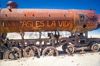 Machine on railway