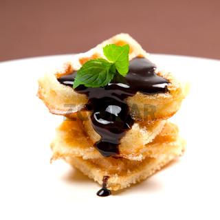 Waffeln mit Schokolade/ waffle with chocolate