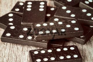 Pile of old dominoes