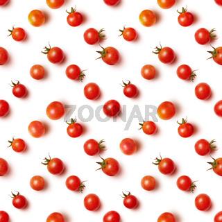 flat lay of beautiful trendy seamless pattern cherry tomato
