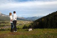 Aussicht in die Alpen
