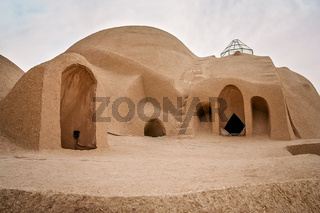 Rooftop dome of the traditional iranian palace in Kashan