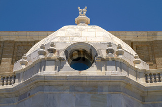 Detail of Historical Architecture in Cadiz, Spain