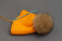 Orange handmade hat