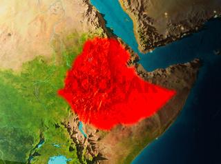 Orbit view of Ethiopia