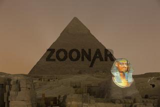 Licht und Ton Show an den Pyramiden von Gizeh