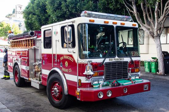 Feuerwehrauto in San Francisco