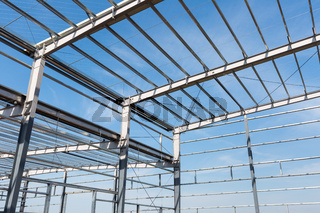 steel frame building closeup