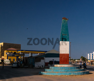 Fish monument in the center of Berbera Somalia