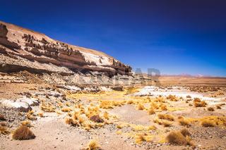 Landscape of the high peruvian plateau