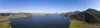 Panorama of Skadar Lake in Montenegro