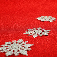 Silver decorative snowflakes