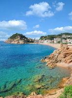 Badeort Tossa de Mar an der Costa Brava,Katalonien,Mittelmeer,Spanien