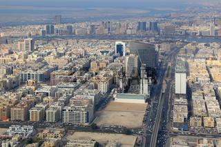 Dubai Übersicht mit The Creek Fluss Luftaufnahme Luftbild
