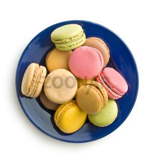 Tasty sweet macarons.