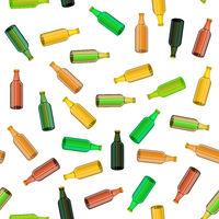 Colored Glass Bottle Seamless Pattern