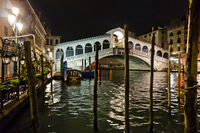 Rialto bridge, Venice By Night Quiet And Uncrowded, Italy